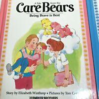 Care Bears Storybook BEING BRAVE IS BEST- Addresses Hospital Stays Vintage HC 84