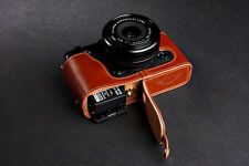 Genuine Real Leather Half Camera Case Bag for FUJIFILM XE1 XE2 XE2S Bottom Open