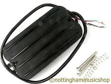 Guitarra Eléctrica Quad Negro Hot Rail 4 Bobina Split Doble Humbucker Doble Pastilla Nuevo