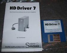 Atari 520 1040 ST STFM STE Mega Computer HD Driver Ver. 7 Original Disk & Manual
