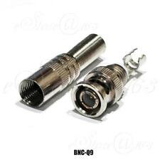 Gold-Pleated BNC Q9 Male Jack Plug RG59 Coaxial Cable TV Solder Signal Connector