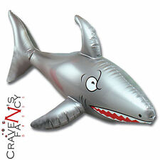 Inflatable 90cm Shark Blow Up Beach Pool Pirate Fancy Dress Party Accessory New