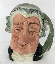 "Royal Doulton Toby Mug Lawyer Large 7.5"" D6498 Barrister Attorney Judge Jug"