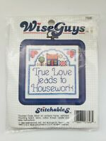 ©1988  Stitchables Wiseguys Counted Cross Stitch Kit 7696 TRUE LOVE LEADS TO ...