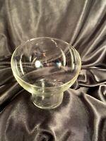 "Centerpiece 'Kira Slant' Fruit Bowl 4"" Lead Free Crystal Glass"
