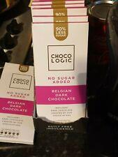 Chocologic chocolat foncé 80 g bar 90% Moins de Sucre * céto Friendly Low Carb D...