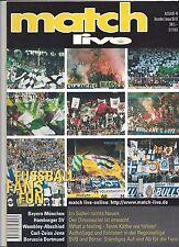 MATCH LIVE, Nr. 44 = 00/01, Fan, Ultra, Hooligan Zine 2000, Bayern, HSV, Jena