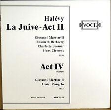 VOCE-40 Halevy LA JUIVE 1927 & 1936 Martinelli Rethberg D'Angelo Clemens NM