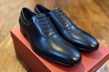 Salvatore Ferragamo Farnese MENS Black Shoes Oxfords Lace Up Size 10 D NIB