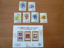 Surinam Olympia 1996  Atlanta  Mi 1554 - 1559 , Bl. 67  postfrisch