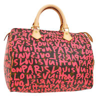 LOUIS VUITTON SPEEDY 30 HAND BAG MONOGRAM GRAFFITI M93704 A46542h