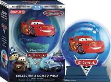 Disney Cars 2 Collector's Combo Pack 3D BluRay DVD Digital NEW SEALED Glow Globe