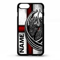 Dragon cross st georges flag england personalised name phone case cover