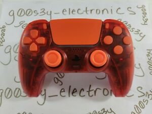 New Frosted Red Sony PS5 DualSense Wireless Controller w/ Orange Accents