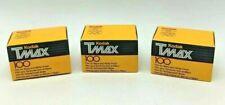 Lot of 3 Rolls KODAK TMax 100 Black White Film TMX 135-36 Expired Vintage