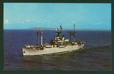 Uss Eldorado Agc-11 postcard Us Navy Amphibious Force Flagship Pacific Wwii