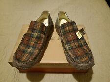Roper - Driving Moc, wrapped slip on two tone Brown tweed Men's 9.5 NwB