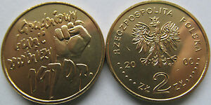 """Poland 2000 - 2 zlotych """"30th Anni of December Events in 1970"""" UNC"""
