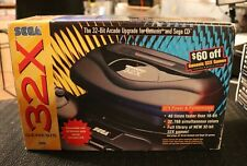 Sega Genesis 32X Add On New In Box Old Stock Sega CD 32 Bit Upgrade