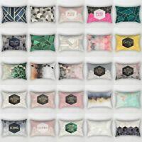 Rectangle Cotton Linen Pillow Case Geometric Marble Cushion Cover Home Decor