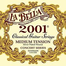 La Bella 2001 Classic-Guitarra clásica medio Tension Series Cadena