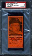 1958 SF Call Bulletin Bill Rigney Giants PSA 5 Excellent San Francisco