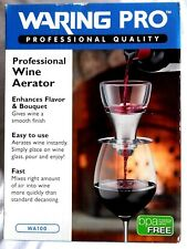 Waring Pro Professional Wine Aerator-Brushed Stainless Accent-New in Box