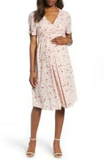 Isabella Oliver Leonie Floral Maternity Tie Dress | Pink. Size 14