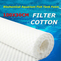 "39"" X 12"" White Biochemical Aquarium Fish Tank Foam Filter Cotton Pad"
