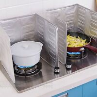 Removable Kitchen Oil Splash Guard Cooking Cover Anti Splatter Frying Shield