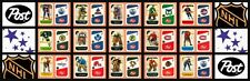 1982-83 Post Cereal NHL Hockey Mini Factory Set 21 UnCut Panels w/ Original Box