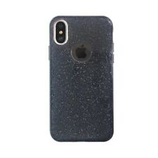 iPhone X & iPhone XS Glitter Gel Case - Black