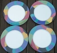 SET of 4   MIKASA  CURRENTS  4  SALAD PLATES  8 3/8  inch across