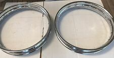 "2 Steel Wheel Rim Chrome 18"" x2.15"" Knucklehead Flathead Panhead 43005-35A (1019"
