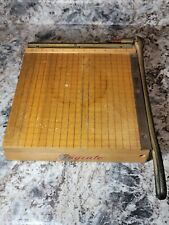 Ingento No 3 Solid Wood 10 Vintage Guillotine Paper Trimmer Cutter Sharp