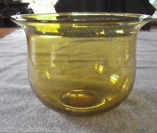 Antique Mid 19Th Century Amber Flint Glass Waste Bowl