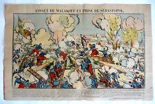 ANCIENNE GRANDE IMAGE D'EPINAL / ASSAUT DE MALAKOFF / 42 x 64 cm