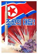 North KOREA Anti-American Propaganda Poster Print MISSILES CAPITOL A3 + #NK001