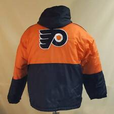 Philadelphia Flyers Starter NHL Jacket Orange Black Full Zip Hooded Vintage XL