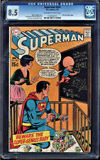 SUPERMAN #224 CGC 8.5 OWW DC COVER GALLERY PAGE CGC #1134052015