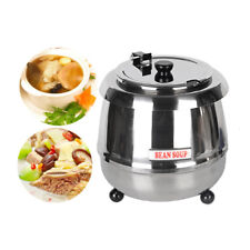 Electric Soup Kettle Chilli Stew Curry Mulled Wine Peas 10L Food Warmer New CE