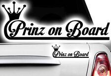 1x Aufkleber Prinz Princess WUNSCHNAME ON BOARD Prinzessin Hangover Baby Kind