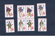 #1565-1568 MNH OG  block of 4 & singles Military Free S/H