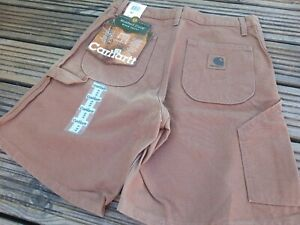 """CARHARTT WORK DUCK HEAVY DUTY SHORTS SIZE 30 X 18"""" NEW WITH TAGS"""