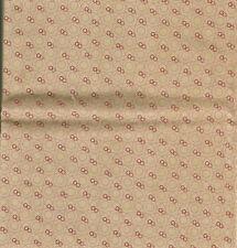 Patchwork coupon tissu coton américain Telegraph Road fond beige 50 cm x 55 cm