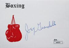 JOEY GIARDELLO SIGNED WHITE BOXING GLOVE INDEX CARD aka CARMINE ORLANDO TILELLI
