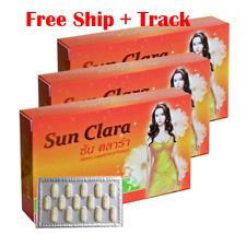 3 X 30 Capsules Sun Clara Natural Soy Protein Fish Collagen Dietary Supplement