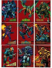 1993 MARVEL UNIVERSE SERIES IV 4 RED FOIL 9 CARD INSERT CHASE SET #1-9 SKYBOX
