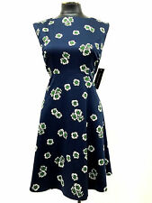 FRENCH CONNECTION DRESS SLEEVELESS A LINE FLORAL PRINT DARK BLUE SIZE 10 MyAFC
