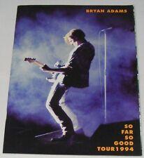 BRYAN ADAMS So Good So Far Tour Ex  1994 UK Sheet Music Book
